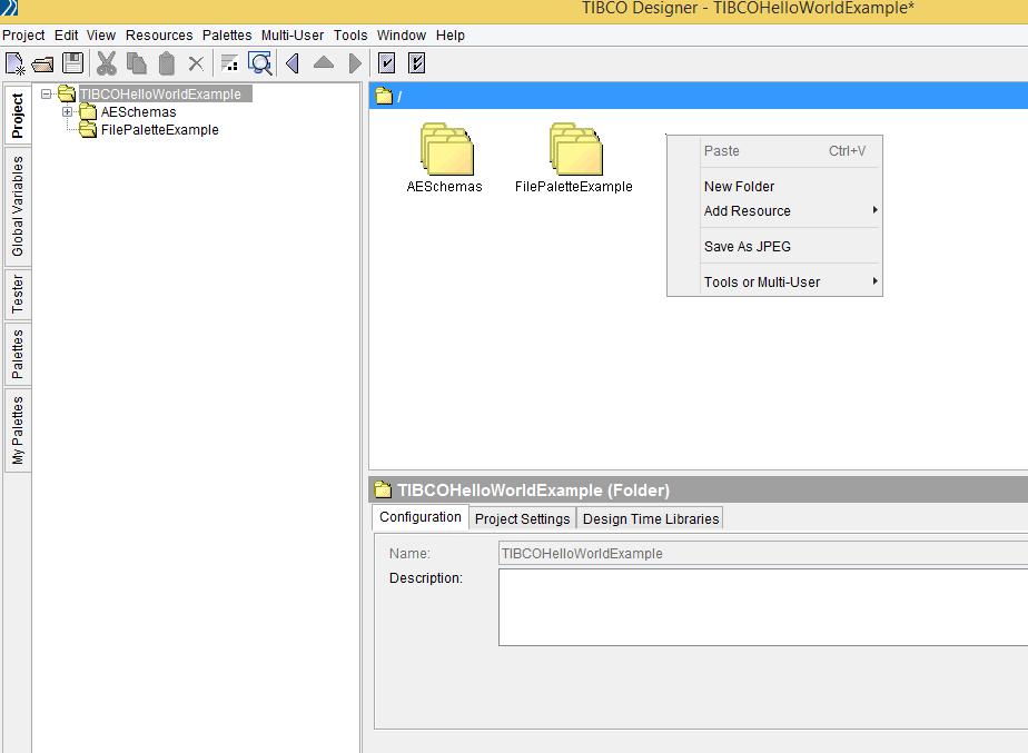 TIBCO Designer Hello World Read File Beginners Tutorial